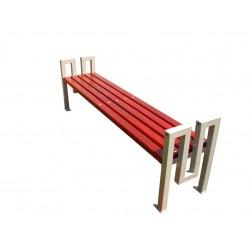 Kovová lavička Fabric