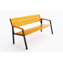 Kovová lavička Platea