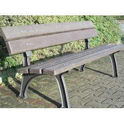 Litinová lavička PARK s recyklátem
