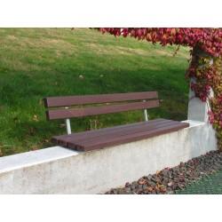 Kovová lavička Fany s recyklátem