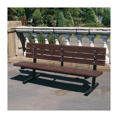 Kovová lavička Nela s recyklátem