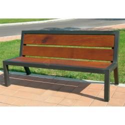 Kovová lavička Aura