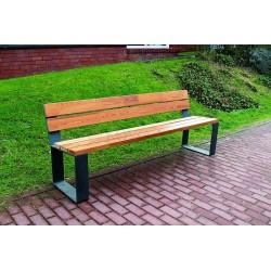 Kovová lavička Alf