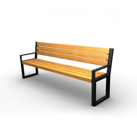 Kovová lavička Agora II