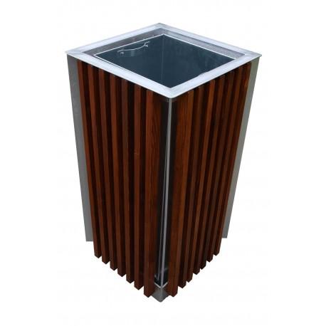 Venkovní odpadkový koš dřevěný 65 l