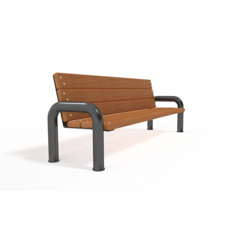 Kovová lavička Alex